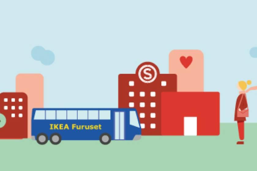 Ta IKEA-bussen fra studentbyen
